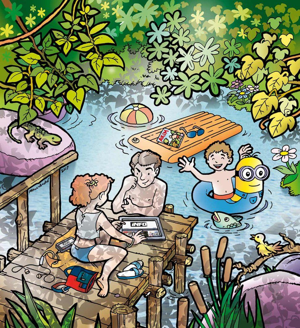 Illustration Info Magazine vacances d'été 2017