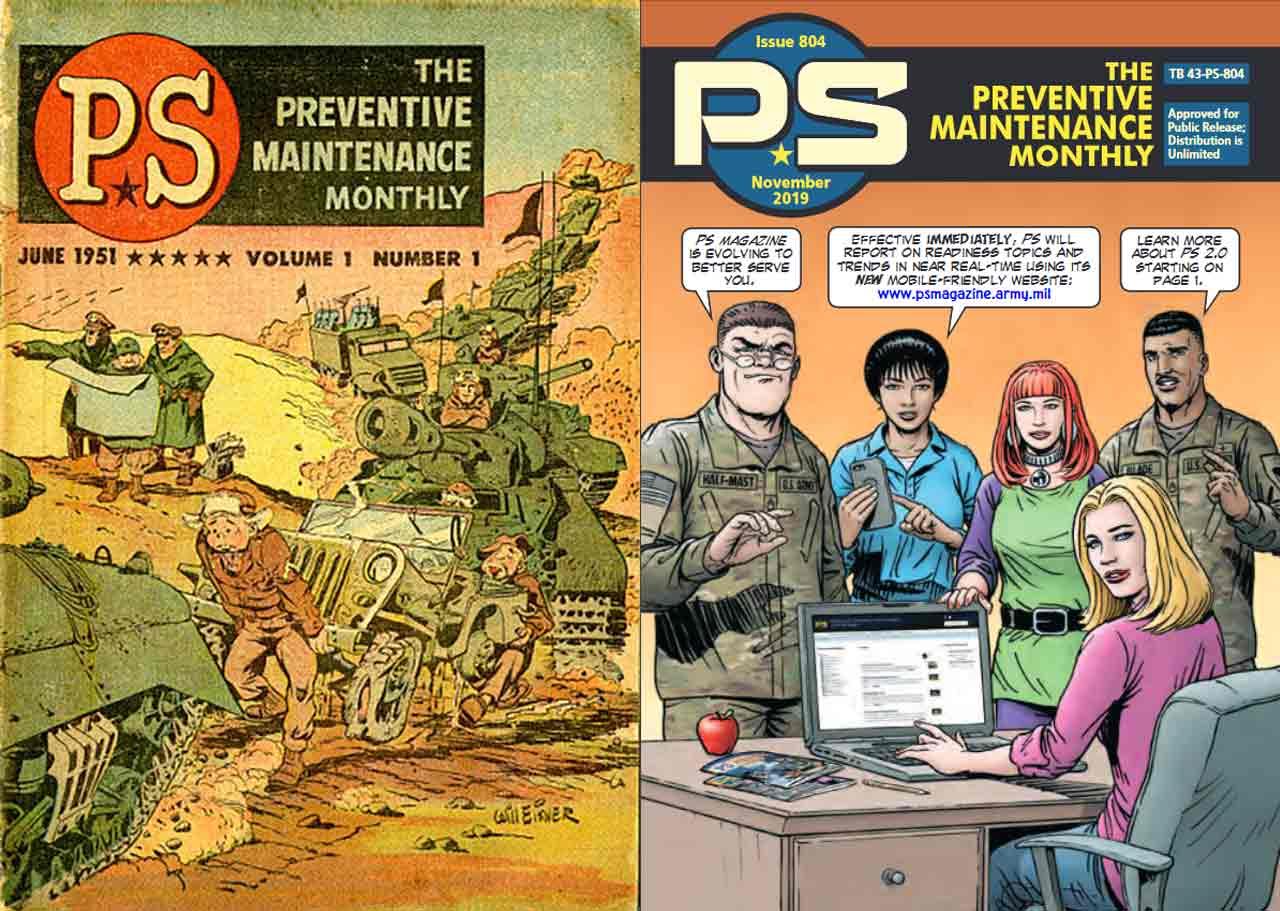 THE-PREVENTIVE-MAINTENANCE-MONTHLY-Magazine-premier-numéro-juin-1951-Will-Eisner-et-dernier-numéro-814-novembre-2019-Tell-a-graphics