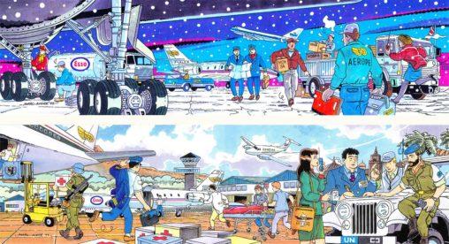 1995 Deux cartes pour-la-société-aéronautique Aerope transport aérien Aerope