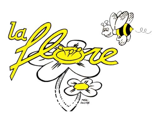 1985 Logo La Flore fleuriste abeille