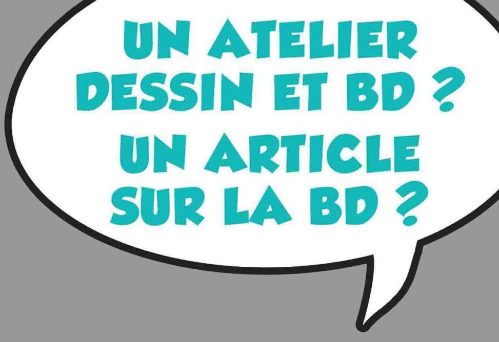 Marc-André graphiste illustrateur Atelier BD articles et histoire BD Besoin affiche flyer illustration BD personnage mascotte logo cartoon