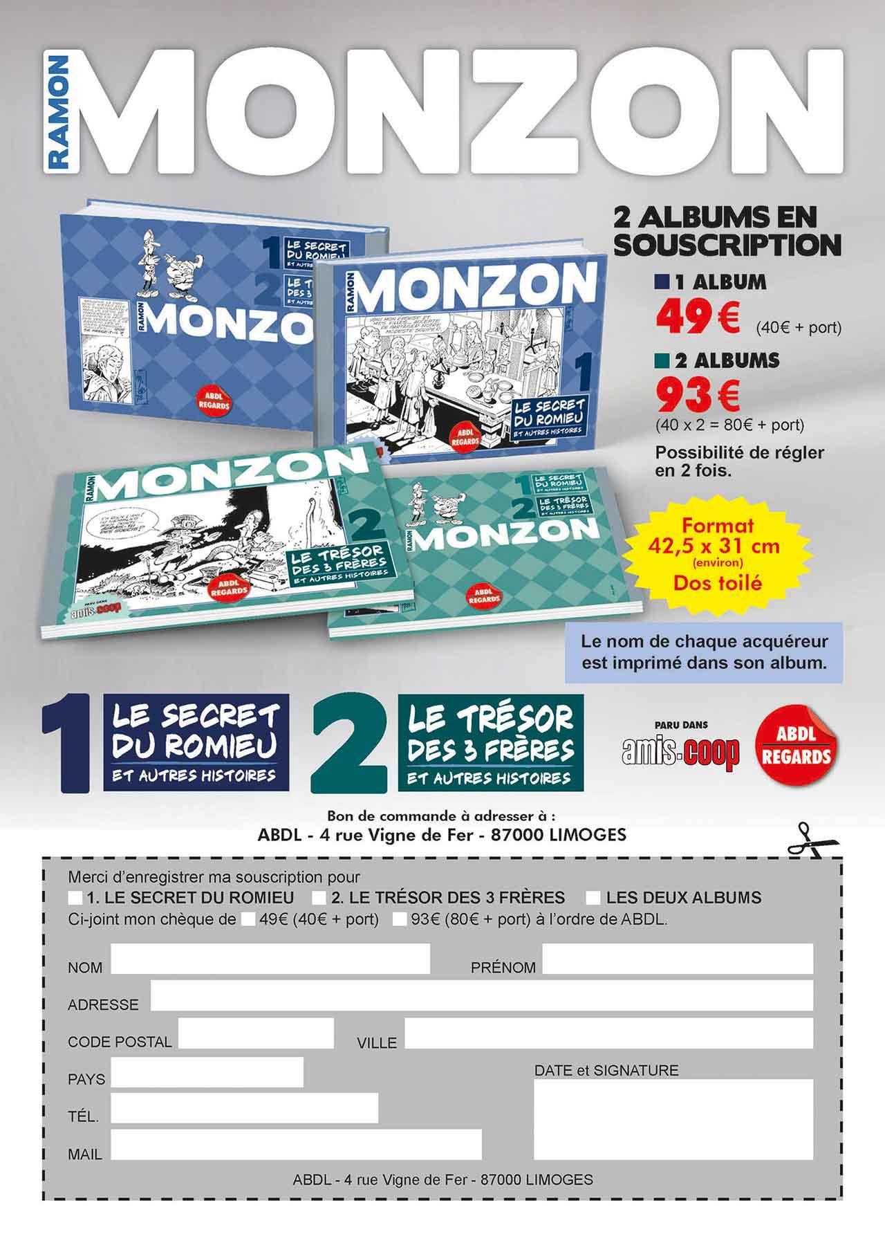 2017 flyer pour commander ouvrages de Monzon - ABDL-Limoges
