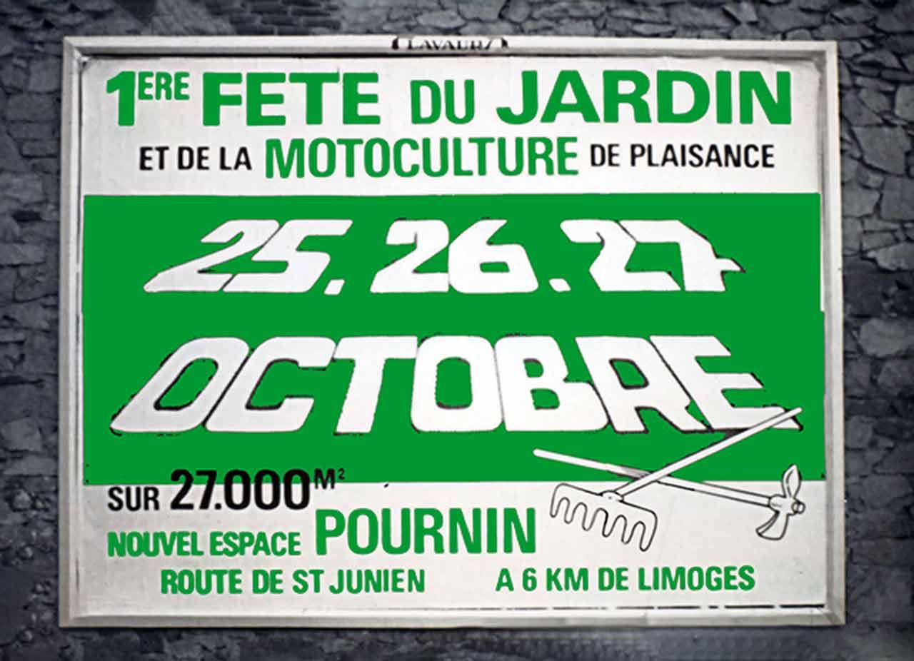 Marc-André Affiche Première Fête du Jardin des Pépinières Pournin Scandere 1985