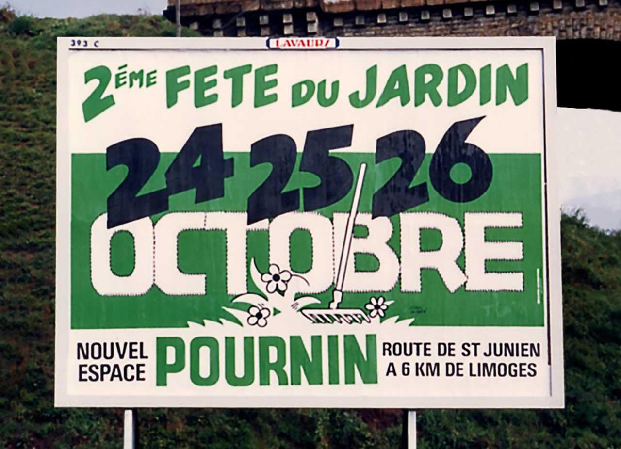 Marc-André Affiche Deuxième Fête du Jardin des Pépinières Pournin Scandere 1986