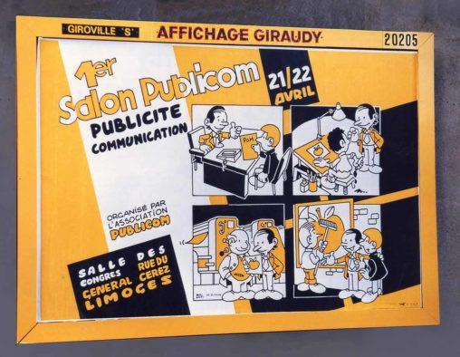 Affiche Salon Publicom Publicité et Communication 1986 Marc-André
