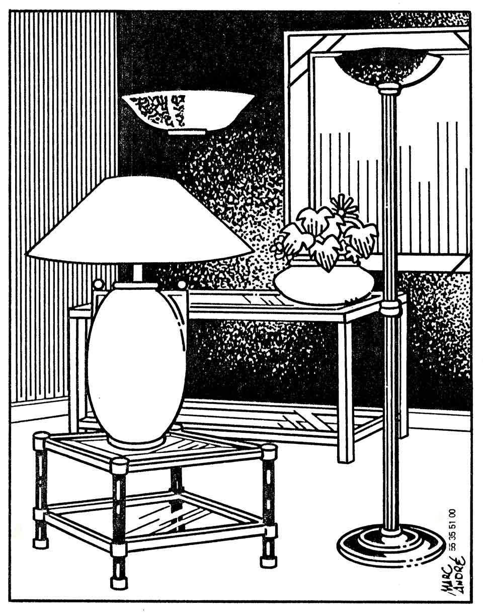 Luminaires Sani-Eclair 1987 Limoges Marc-André
