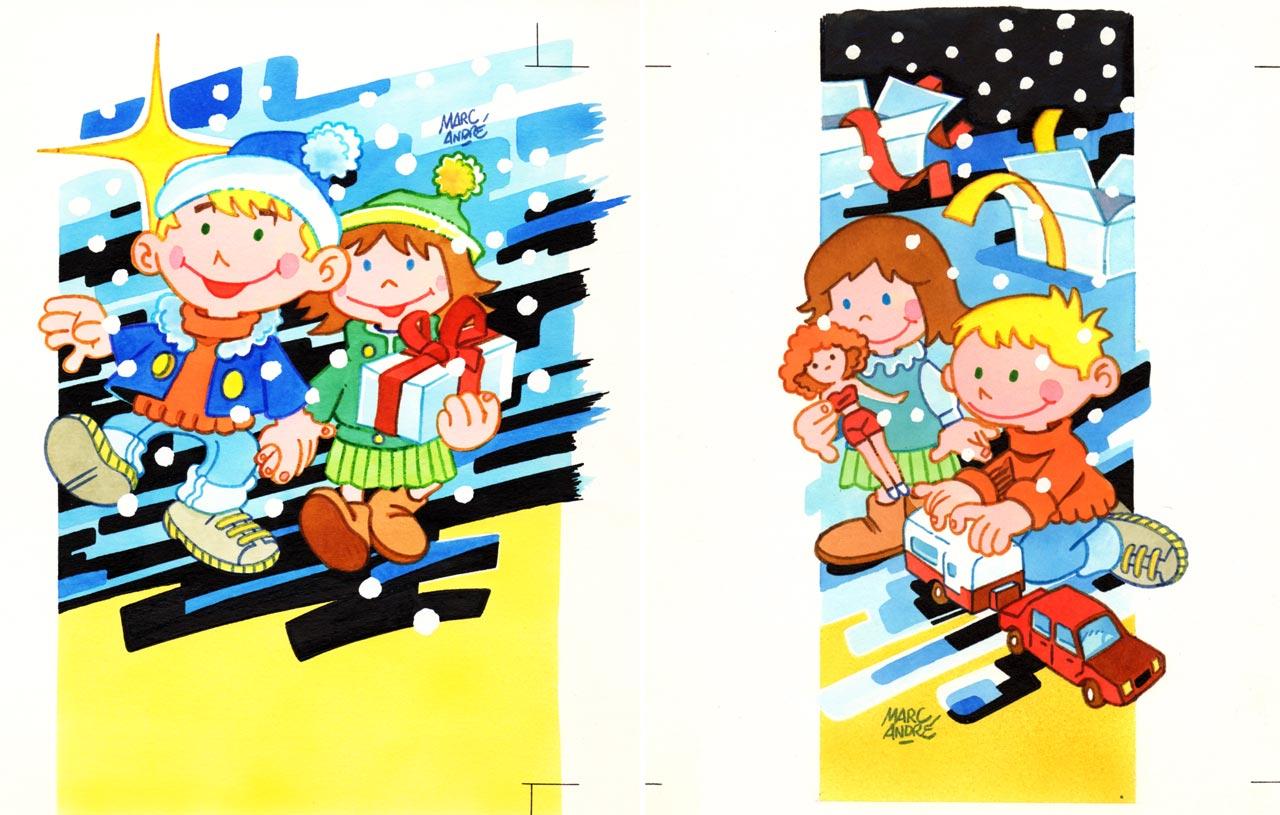 FR3 Noêl carte pour Noël du personnel en 1988 - Imprimerie du Limousin - Panazol - Marc-André
