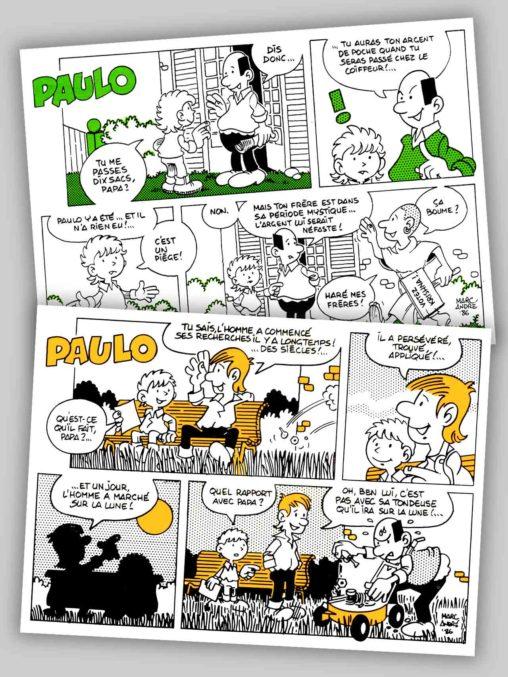 Paulo-1986-Revue-Carte-Ecureuil-Caisse-d'épargne-Puzzle-Centre Marc-André
