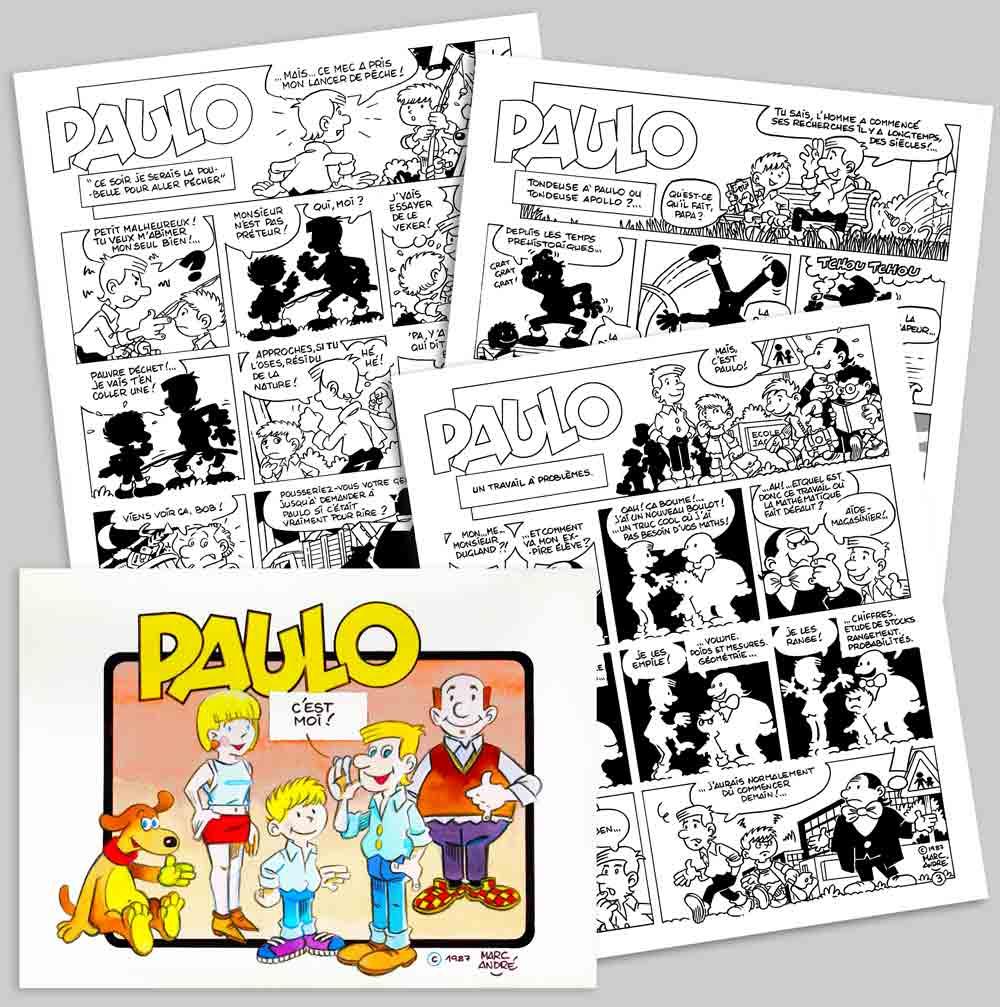 Paulo-1986-Revue-Carte-Ecureuil-Caisse-d'épargne-Puzzle-Centre