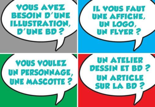 Marc-André bande dessinée illustration graphisme logotypes Limoges