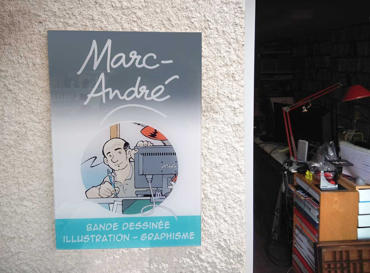 Plaque extérieure-2020-Marc-André graphisme illustration bande dessinée  Limoges