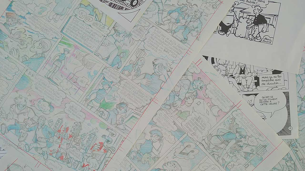 Crayonnés de la BD www-clj-com en 1999 Marc-André graphisme illustration bande dessinée Limoges