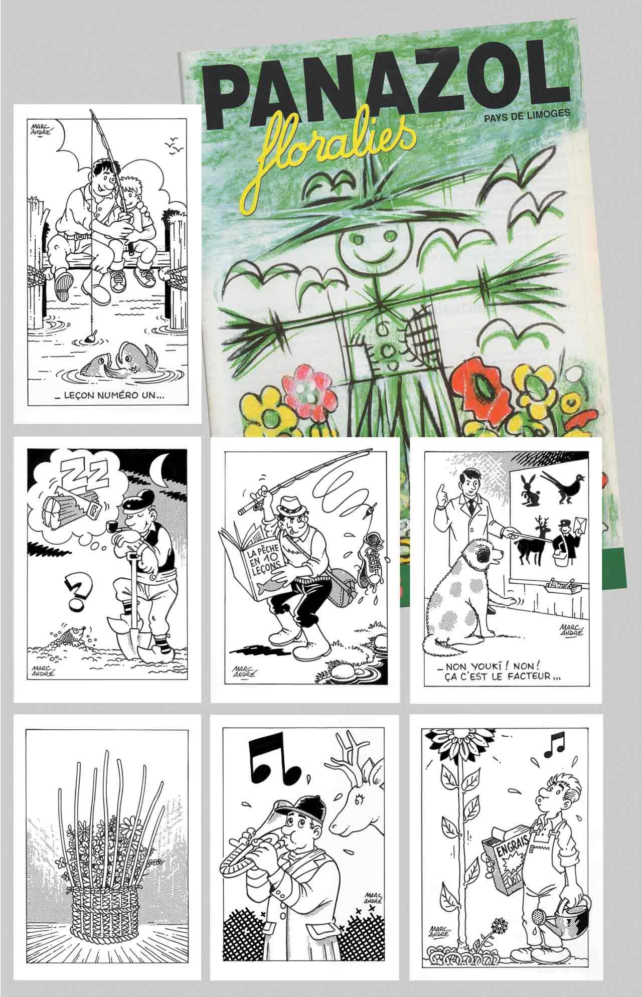Vignettes-humoristiques-dans-plaquette-Floralies-de-Panazol-avril-1995 Marc-André