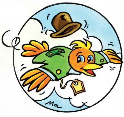 Quelques oiseaux pour des publicités dans Info magazine en 2002-2003 Marc-André BD Illustration graphisme Limoges