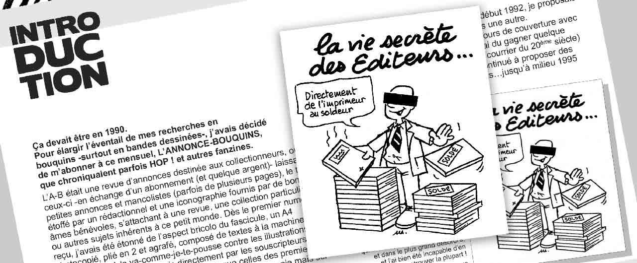 L'Annonce-Bouquins : La vie secrète des éditeurs illustration Marc-André BD Illustration Graphisme Limoges