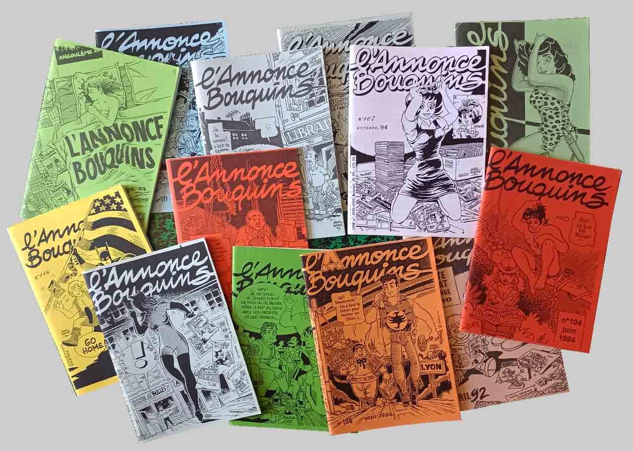 couvertures de L'annonce-Bouquins par Marc-André 1992-1995 - Bande dessinée - Libourne - Marc-André BD Illustration Graphisme
