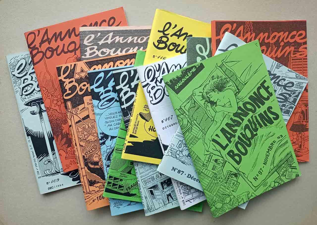 Couvertures pour L'Annonce-Bouquins 1992-1995 - Marc-André BD Illustration Graphisme Limoges