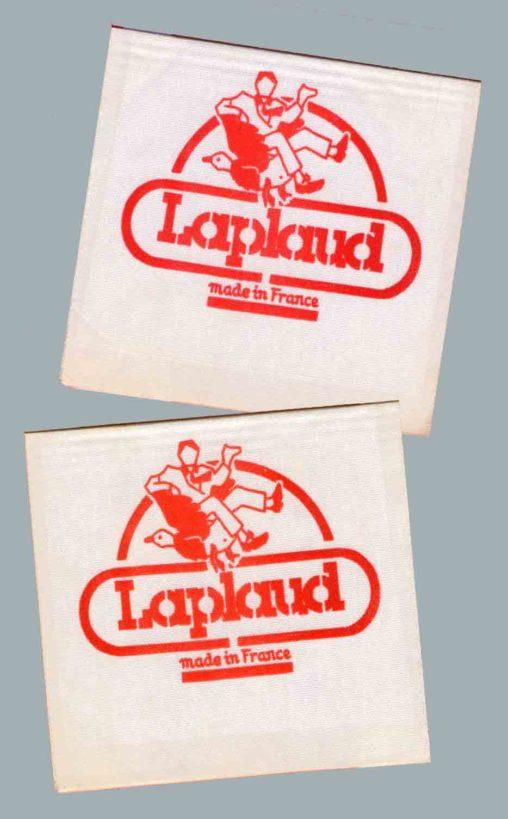 Etiquette pour les textiles Laplaud à Limoges 1986 Marc-André BD Illustration Graphisme Limoges
