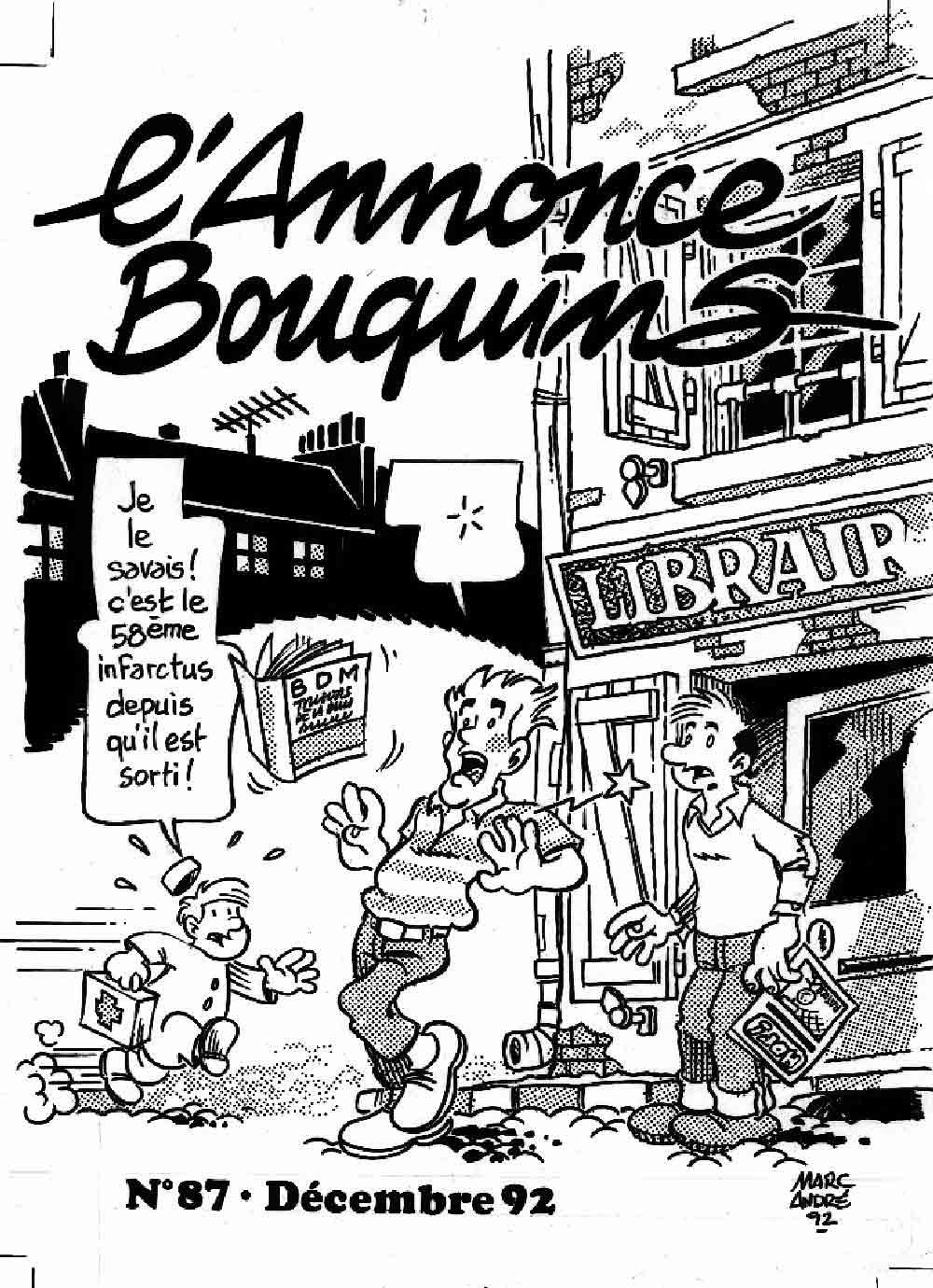 L'annonce-Bouquins 87 - décembre 1992 - par Marc-André - 1992-1995 - Bande dessinée - Libourne - Marc-André BD Illustration Graphisme - Limoges