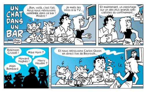 Un chat dans un bar 01 mars 2020 bande dessinée Marc-André BD Illustration graphisme Limoges