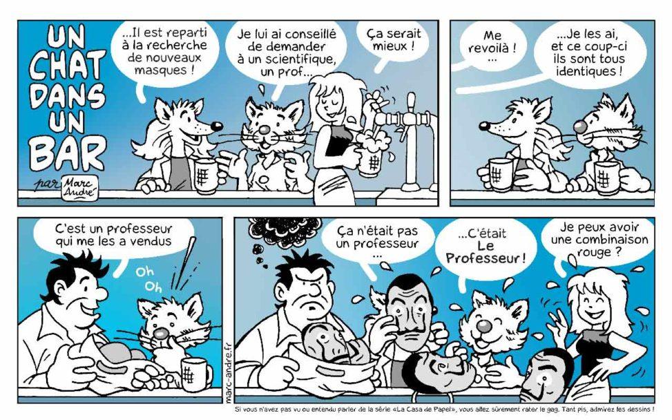 Un chat dans un bar 5 Marc-André BD Illustration Graphisme Limoges