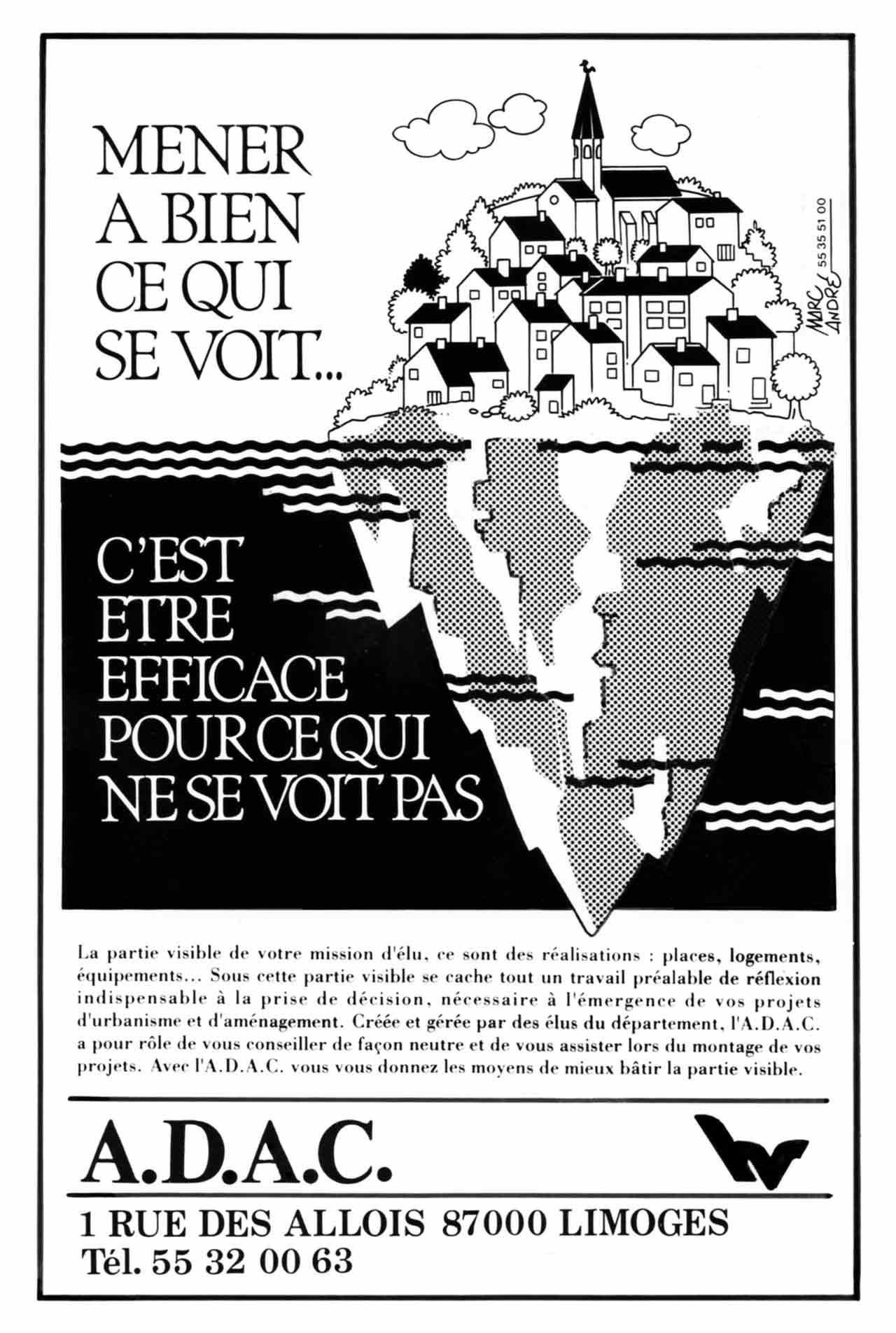 pavé pub ADAC 1991 - Marc-André BD Illustration Graphisme Limoges