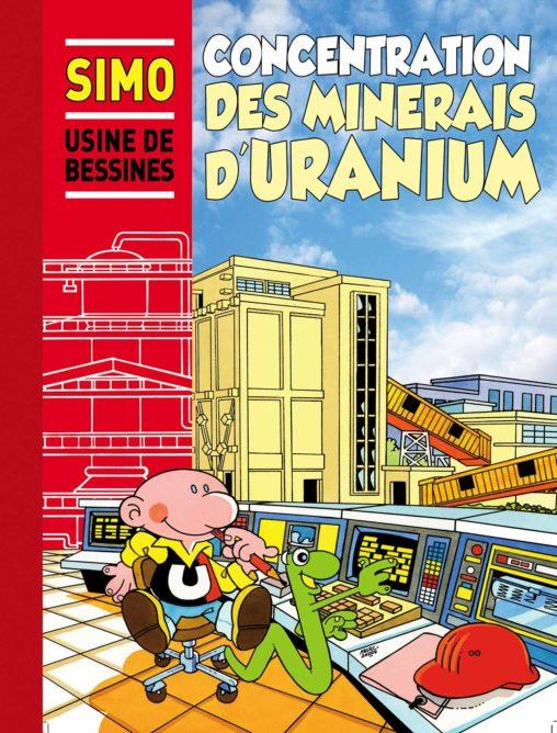 Couverture de l'album de BD pour la SIMO-Societe-Industrielle-des-Minerais-de-L-Ouest- 1989