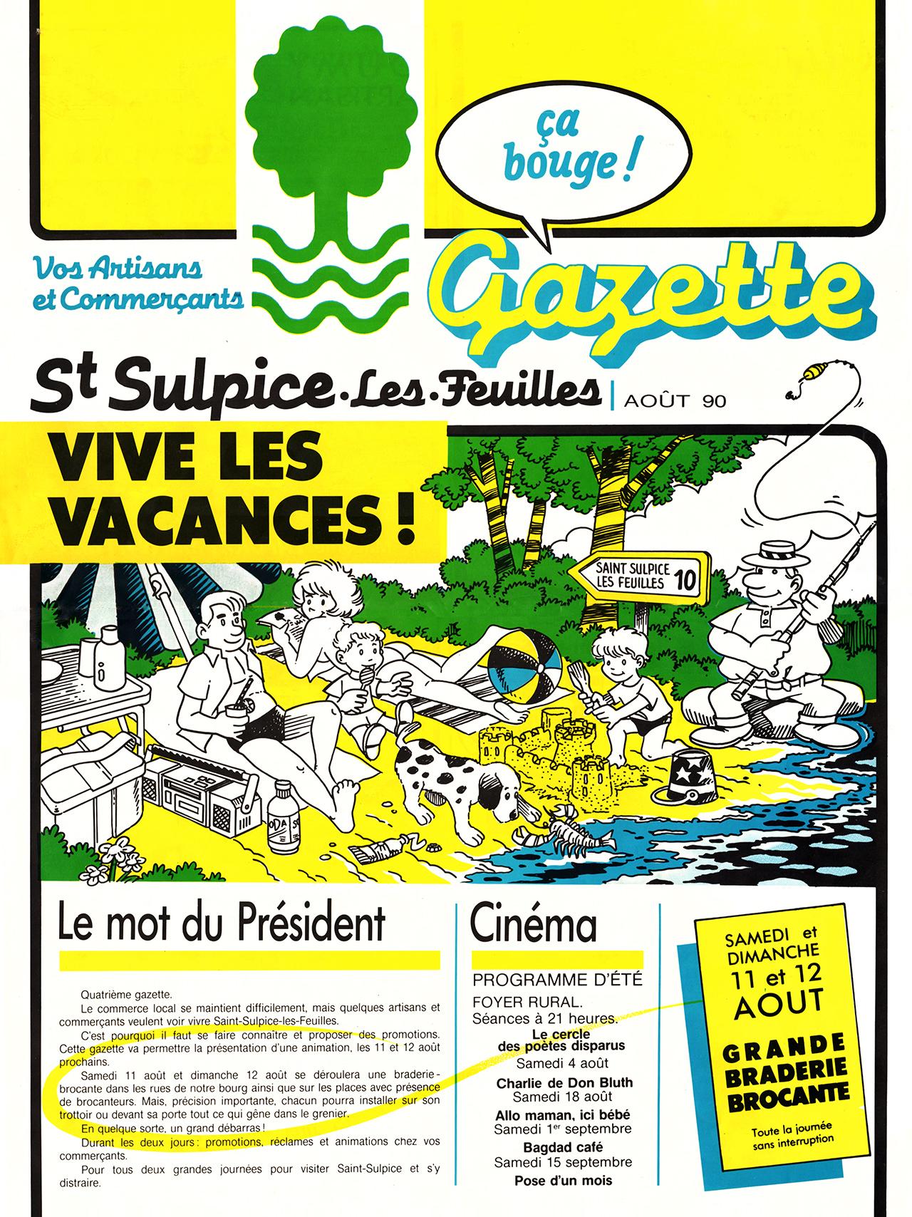 Gazette de Saint-Sulpice-Les-Feuilles-1989-95 numéro 5 Eté 1990