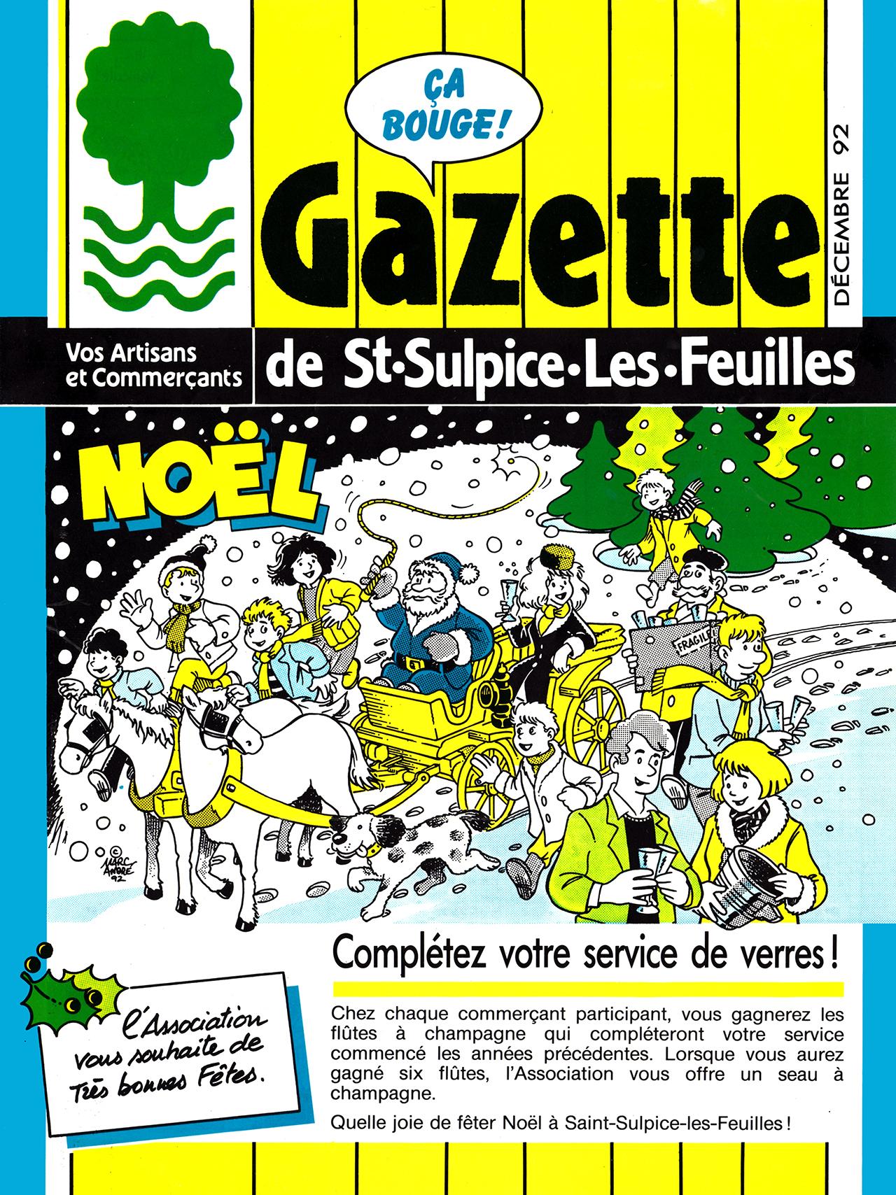 Gazette de Saint-Sulpice-Les-Feuilles-1989-95 numéro 7 Noel 1992 page 1