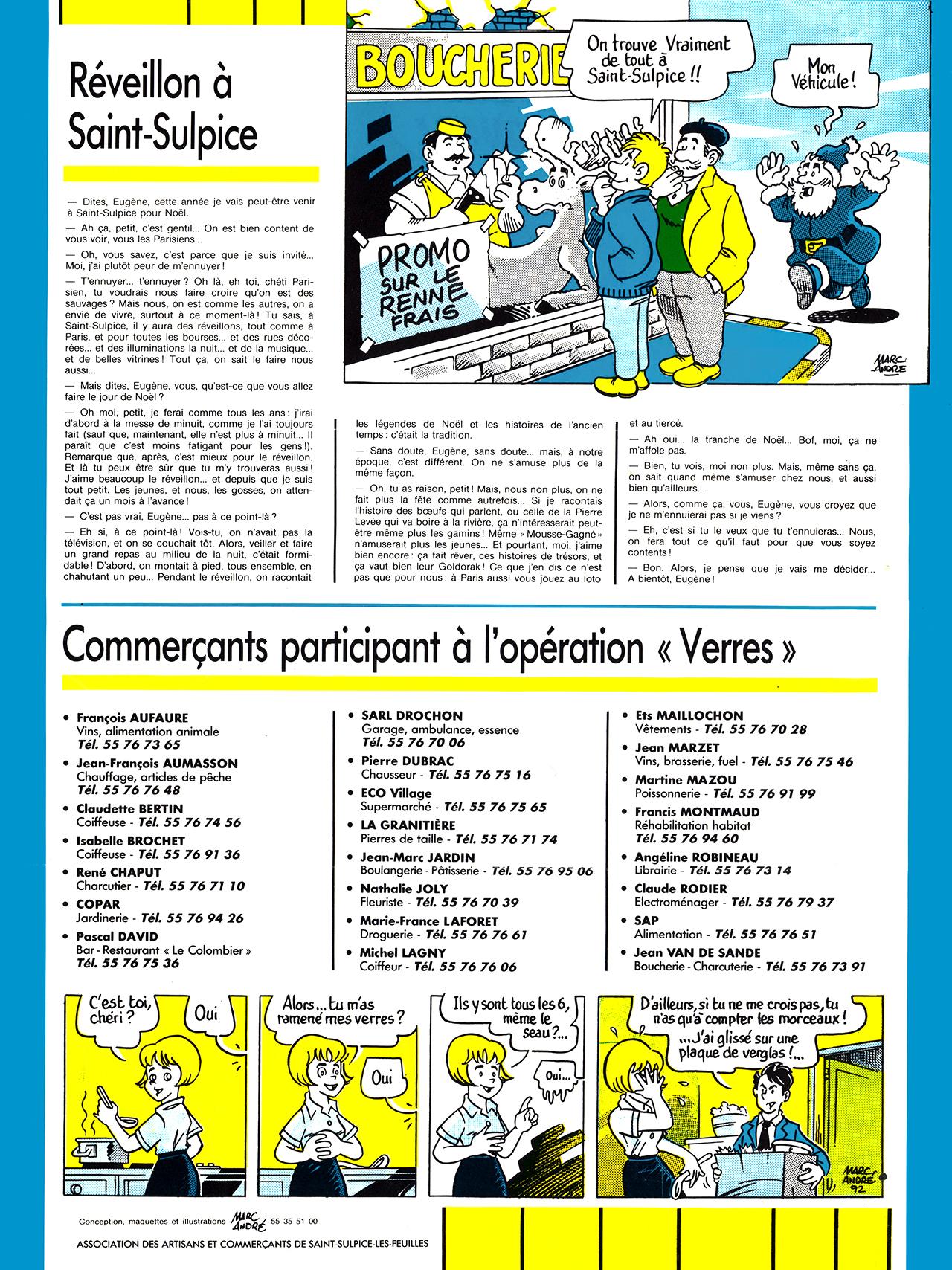 Gazette de Saint-Sulpice-Les-Feuilles-1989-95 numéro 7 Noel 1992