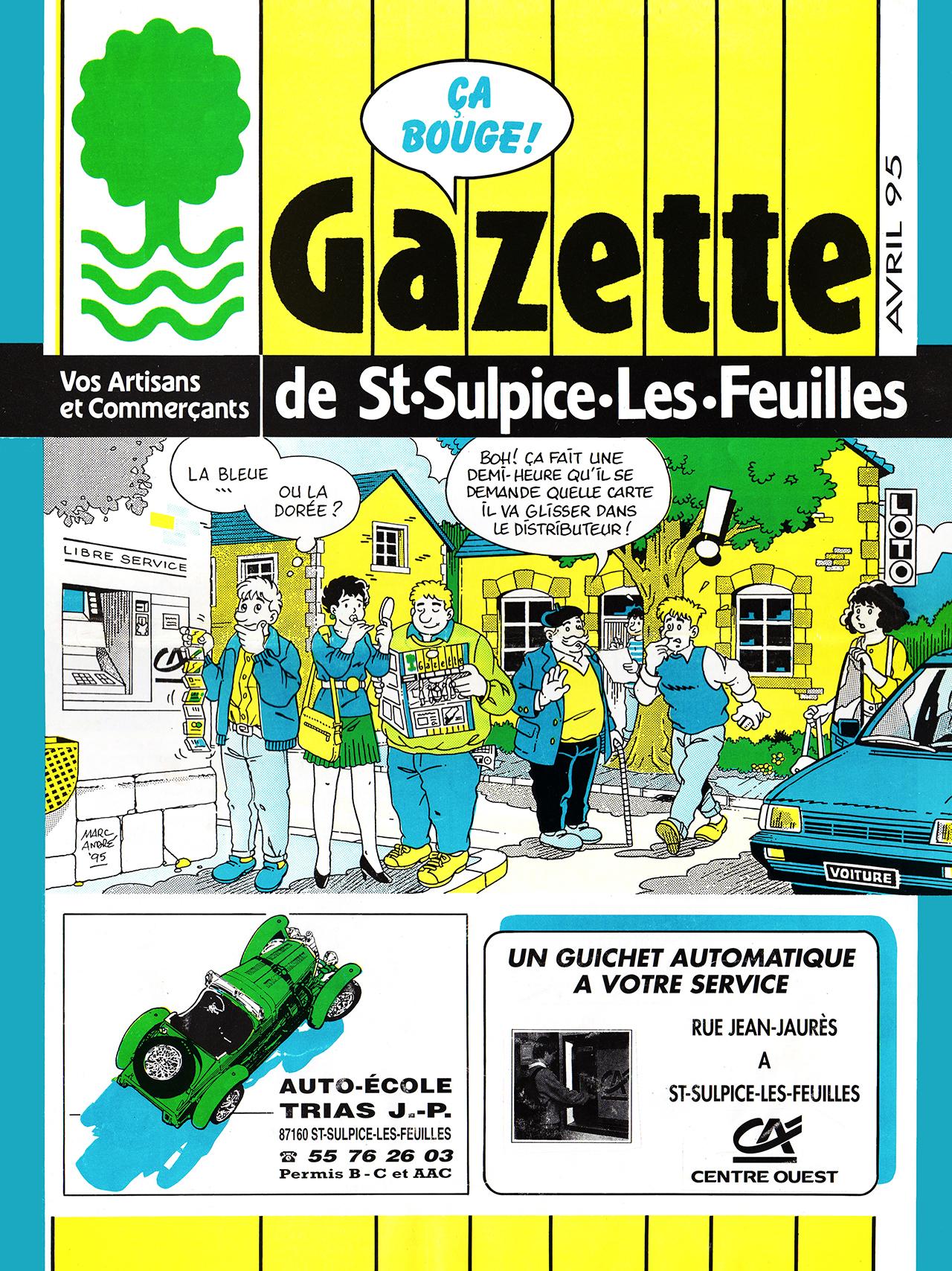 Gazette de Saint-Sulpice-Les-Feuilles-1989-95 numéro 9 et dernier