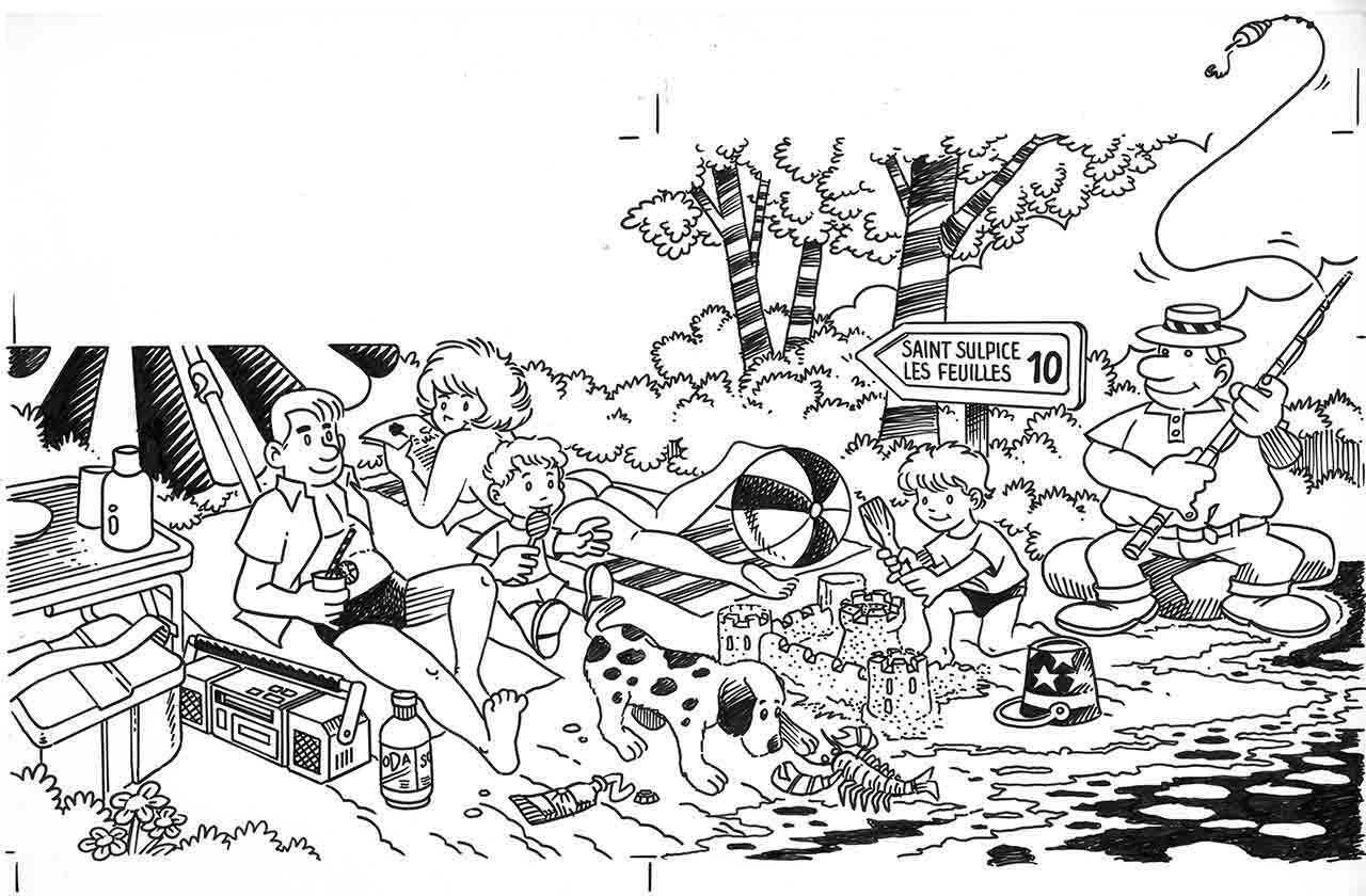 Illustration pour la première page de La Gazette de Saint-Sulpice-les-Feuilles été 1990