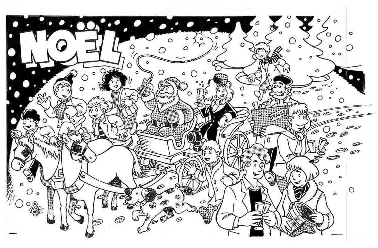 Illustration pour la première page de La Gazette de Saint-Sulpice-les-Feuilles Noel 1992