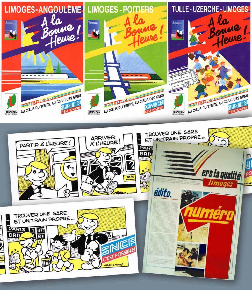 1990-Fiches-et-affiches-SNCF-TER-A-la-bonne-heure-et-BD-pour-Vers-la-Qualité-numéro-1-Agence-Scandere-Limoges.jpg