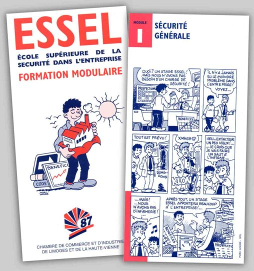 1995-ESSEL-Livret-illustré-et-fiches-BD
