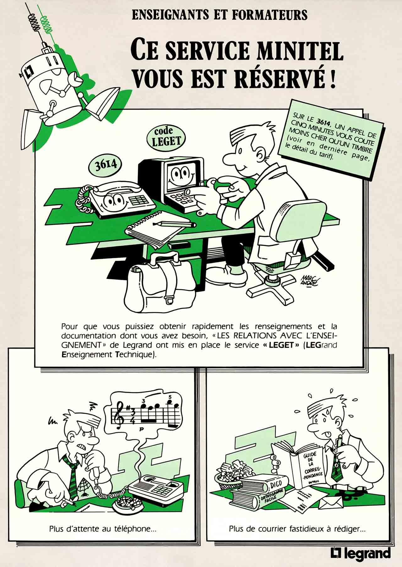 1988-Service-Minitel-Leget-Legrand-Enseignement-Technique