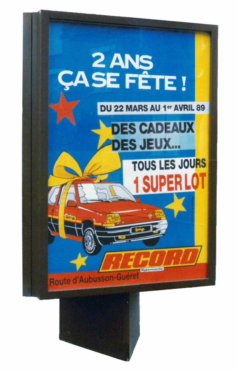 1989-Affiche Sucette-Supermarchés-Record-Agence-Scandere