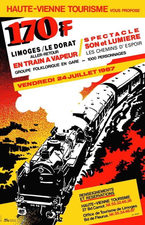 Affiche-Haute-Vienne-Tourisme-Limoges-Le-Dorat-1987