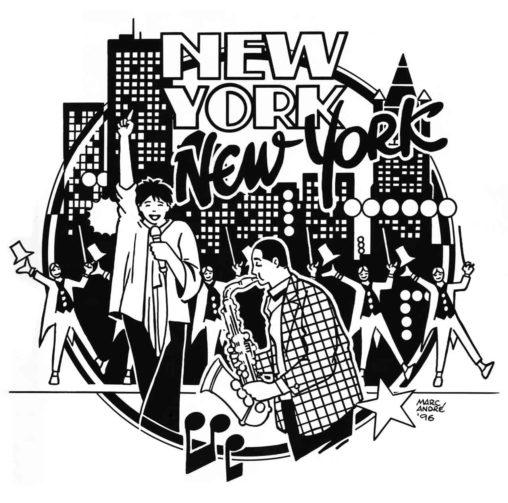 New-York-New-York-motif-pour-sérigraphie-tee-shirt-Isef1996