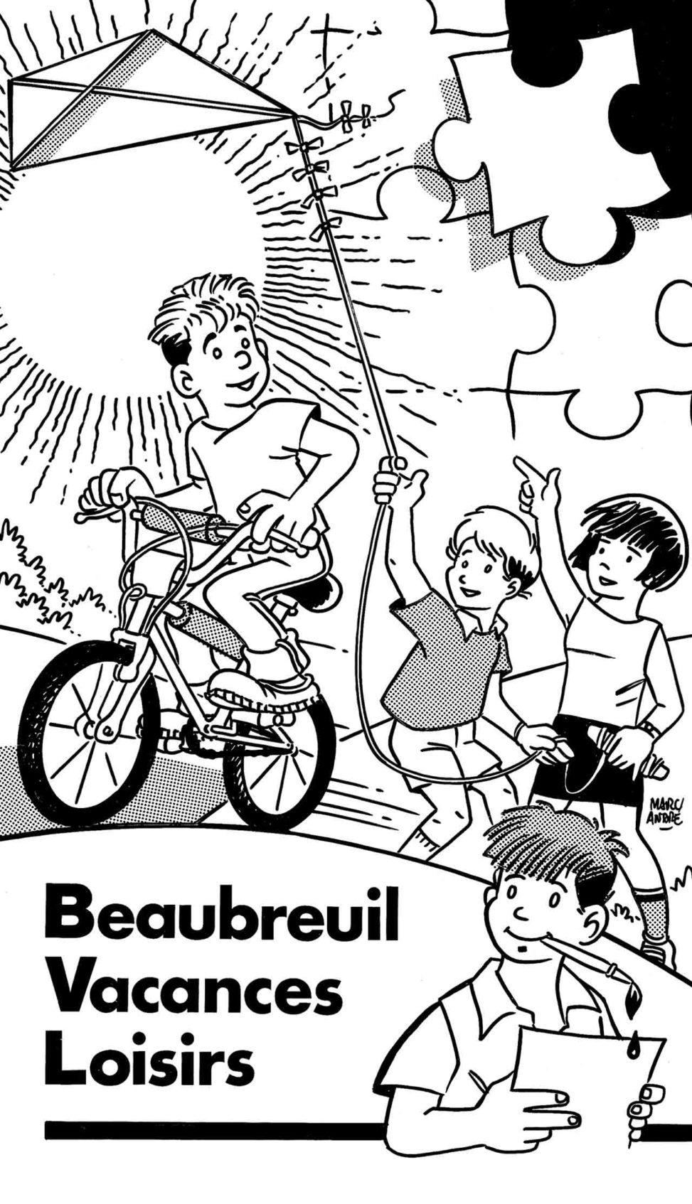 Beaubreuil-Vacances-Loisirs-BVL-1990-1er-volet-du-dépliant- Marc-André