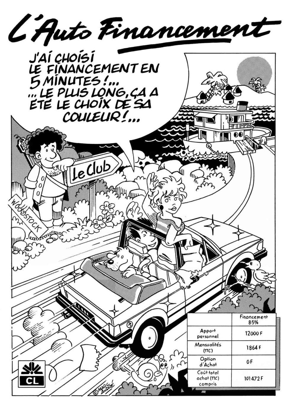 Affiche Crédit-Lyonnais-1989 Marc-André