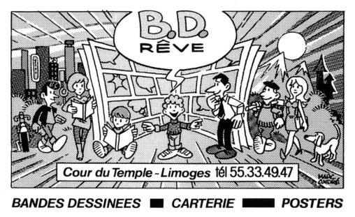 BD-Rêve Pavé Publicité-pour magazine gratuit JOUR ET NUIT-décembre 1985 - Dessagne Limoges Marc-André