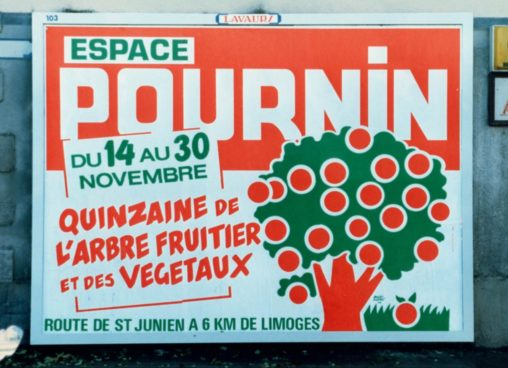 Pournin Quinzaine de l'arbre fruitier et des végétaux novembre 1986 Scandere Marc-André Limoges