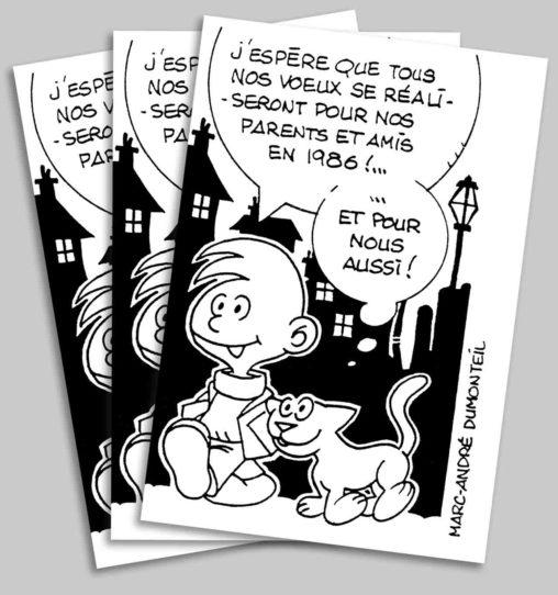 Ma carte de vœux 1986 Marc-André BD Illustration Graphisme Limoges