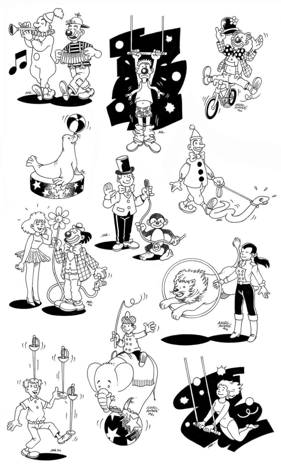 Illustrations pour Panazol en Piste 1994 Marc-André BD Illustration Graphisme Limoges