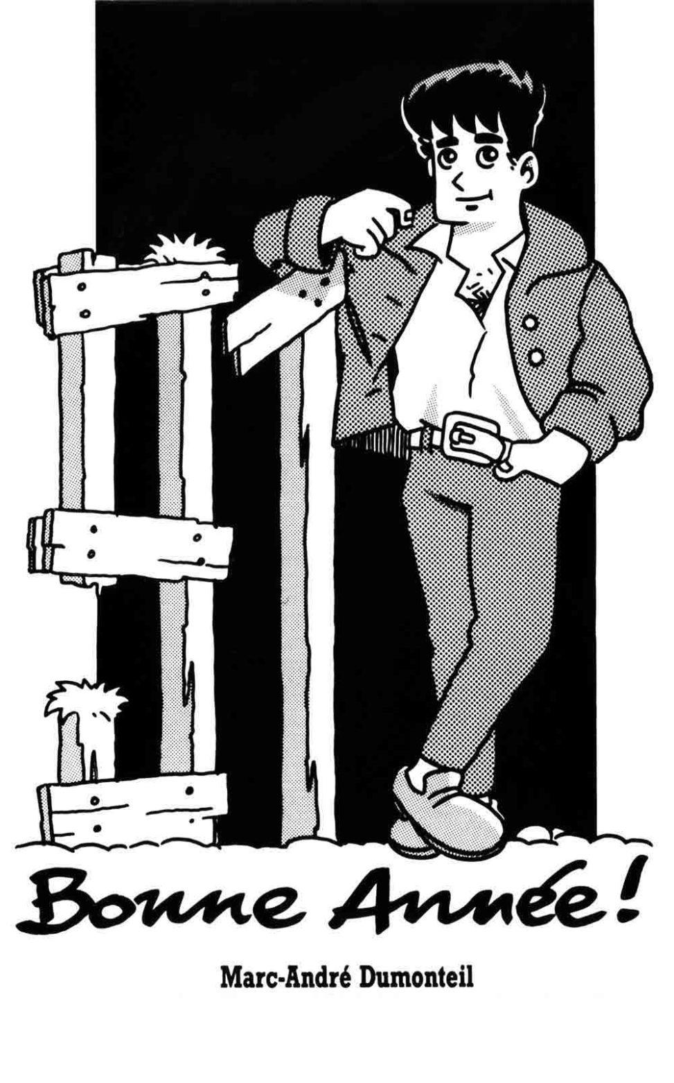 Alex - La carte de vœux pour l'année 1991 - Marc-André BD Illustration Graphisme Limoges