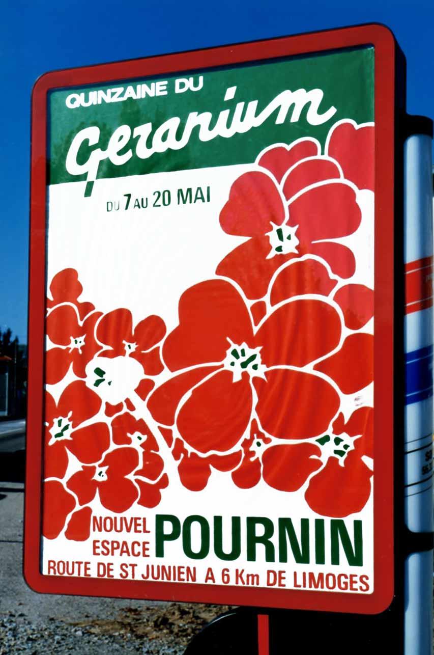 Quinzaine du géranium Nouvel Espace Pournin 1987 - Marc-André BD Illustration Graphisme Limoges - Agence Scandere