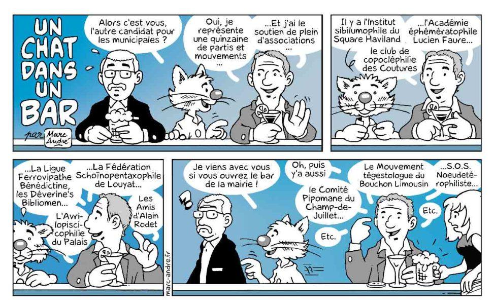 Un chat dans un bar 16 Marc-André BD Illustration Graphisme Limoges 21 juin 2020